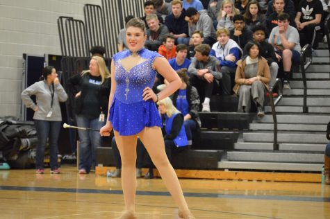 Sophomore Aidyn Mentry has a talent that truly stands out: baton twirling.