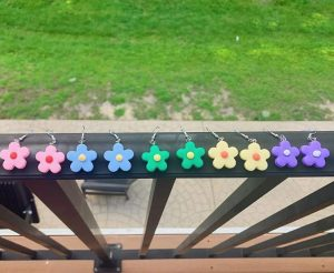 Some of the earrings sold by Indigo Earrings.