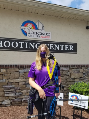 Carson Krahe after winning 1st place at Lancaster Archery Academy in Pennsylvania