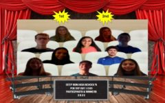 Contestants and winners of the school-wide competition gather in a virtual meeting.