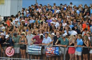 Fans enjoy the football game against Patrick Henry on Sept. 17.